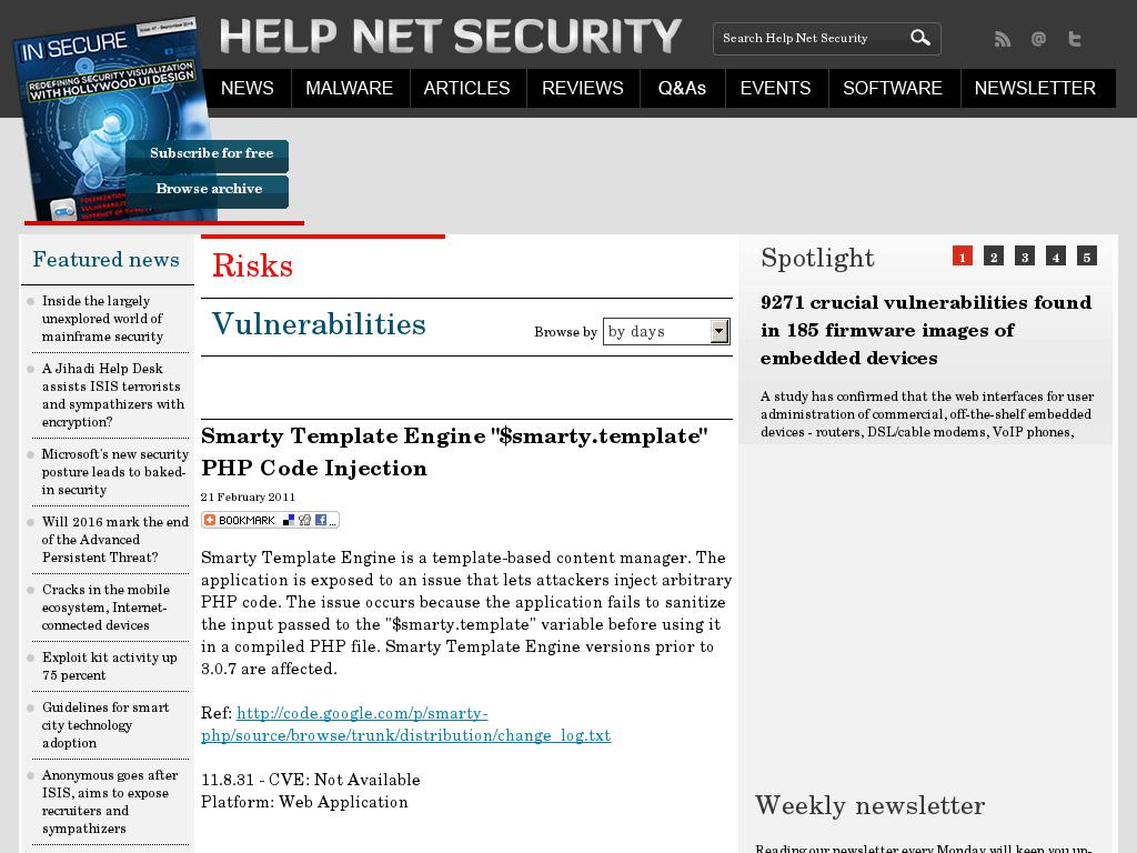 Net-Security org :: Smarty Template Engine