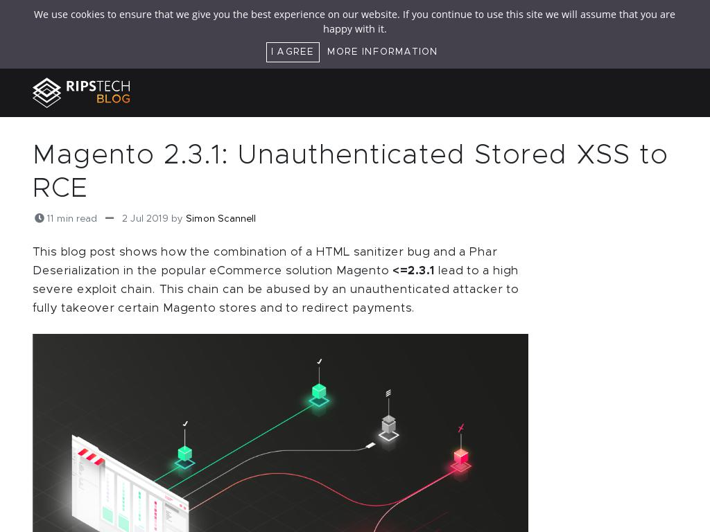RipsTech :: Magento 2 3 1: Unauthenticated Stored XSS to RCE